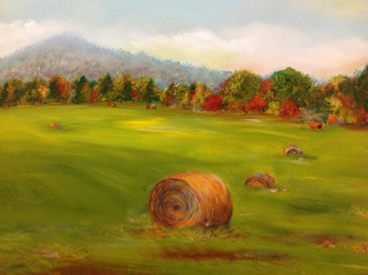 Painting: Tennessee Hay Bails